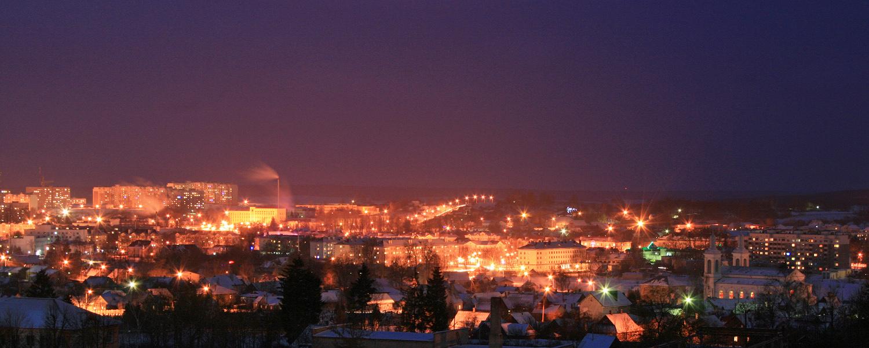 Огни вечернего Волковыска