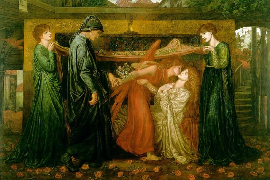 13 Видение Данте около умершей Беатриче