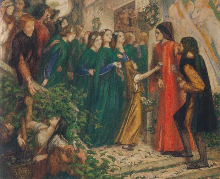 11 Встреча Беатриче и Данте на свадьбе