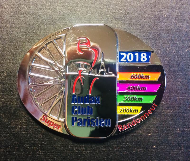 Медаль Super Randonneur 2018 2