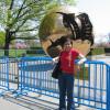 with the big globe