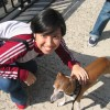 with the cutest dog ever