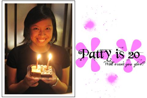 Patty is 20