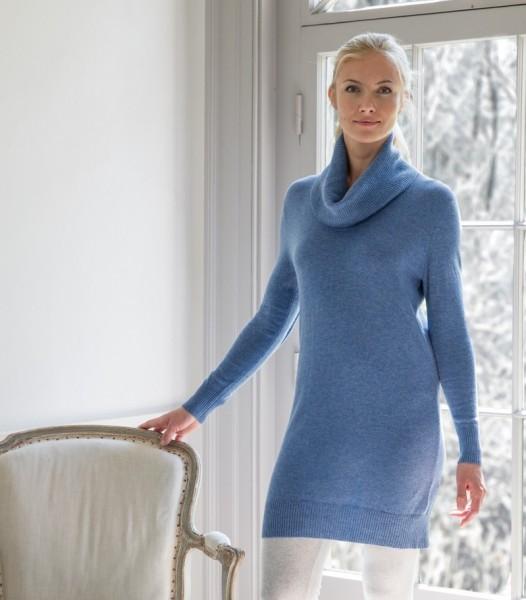 Платье с воротником хомут (A55)