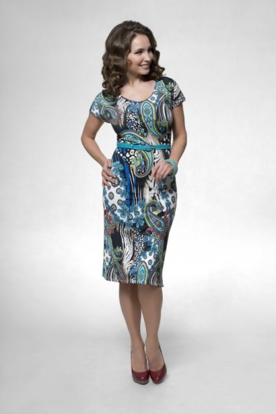 Узор турецкий огурец платье