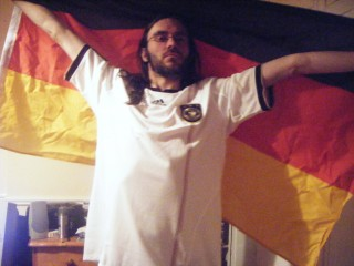 I bought the shirt especially, the flag I had anyway.