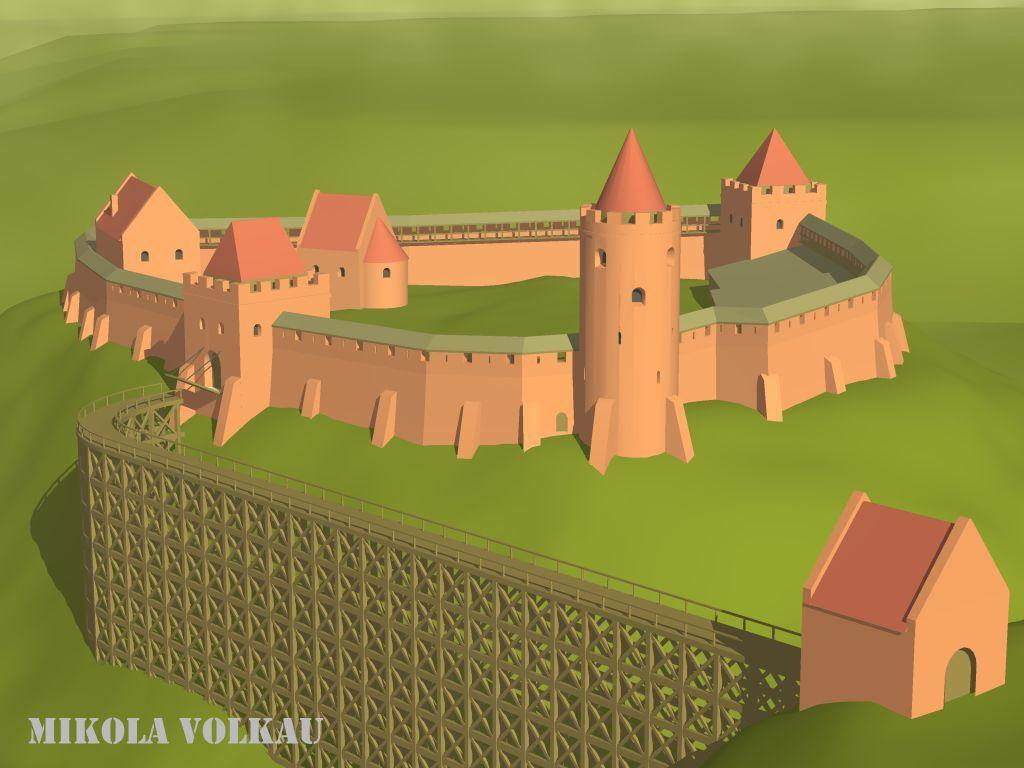 Рэканструкцыя выгляду Старога замка часоў Вітаўта ў Горадні ...