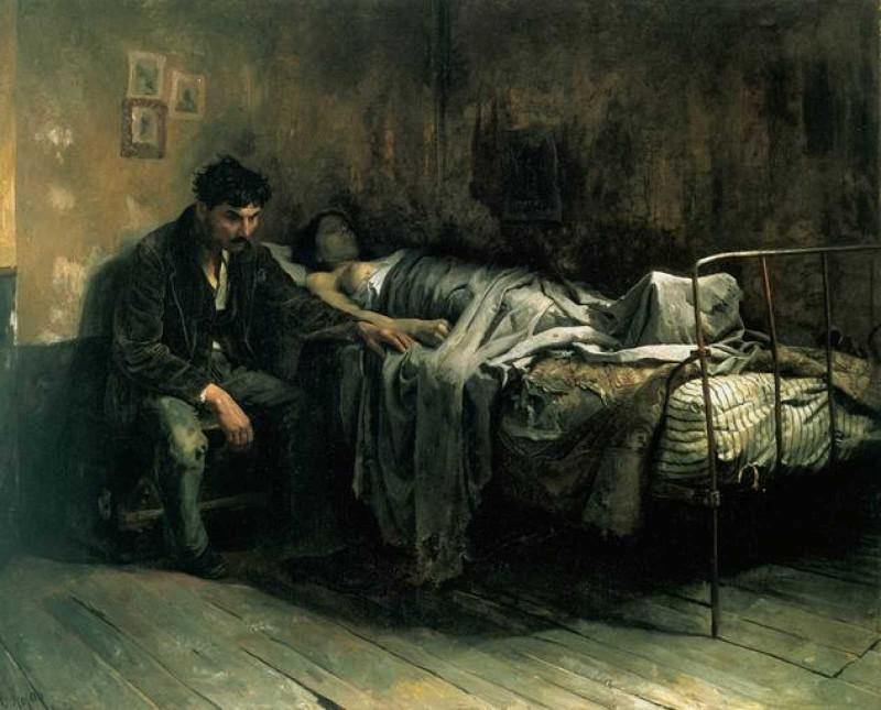 Кристобаль Рохас. Бедность. 1886 год