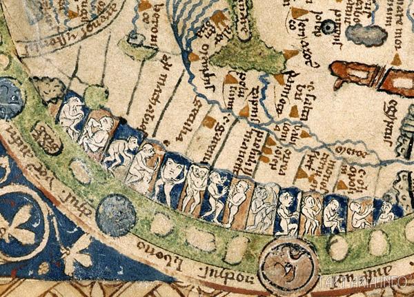 Псаломная картаPsalter world map, ca. 1260. (Псаломная карта мира) Фрагмент источник