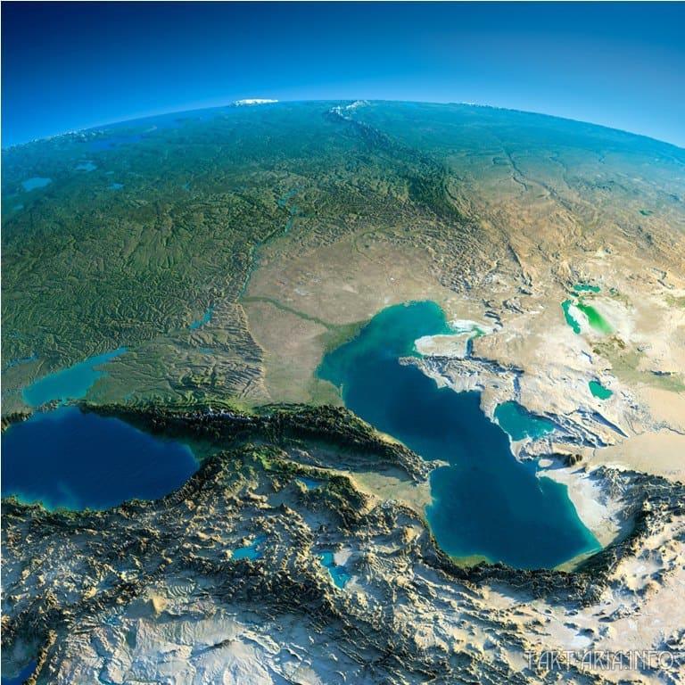 КавказКавказ и юг России из космоса
