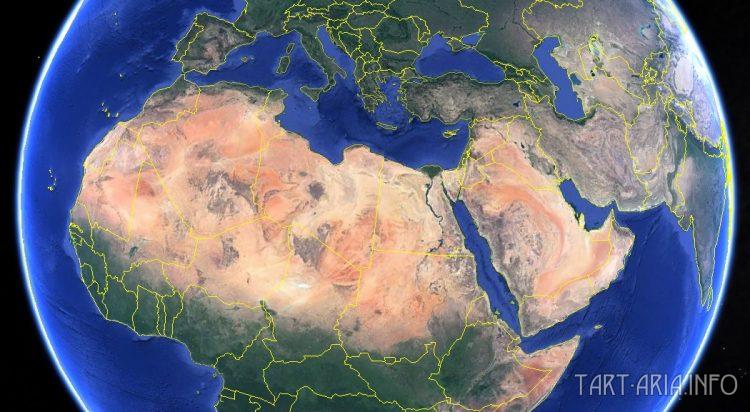 Северная часть Африки и Аравия из космоса
