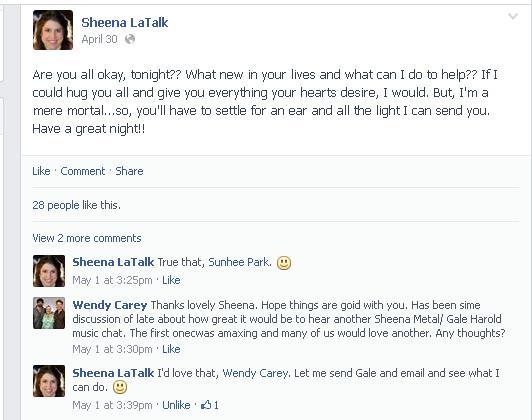 sheena fb response