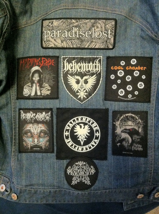 "\""Completed\\"" jacket back"