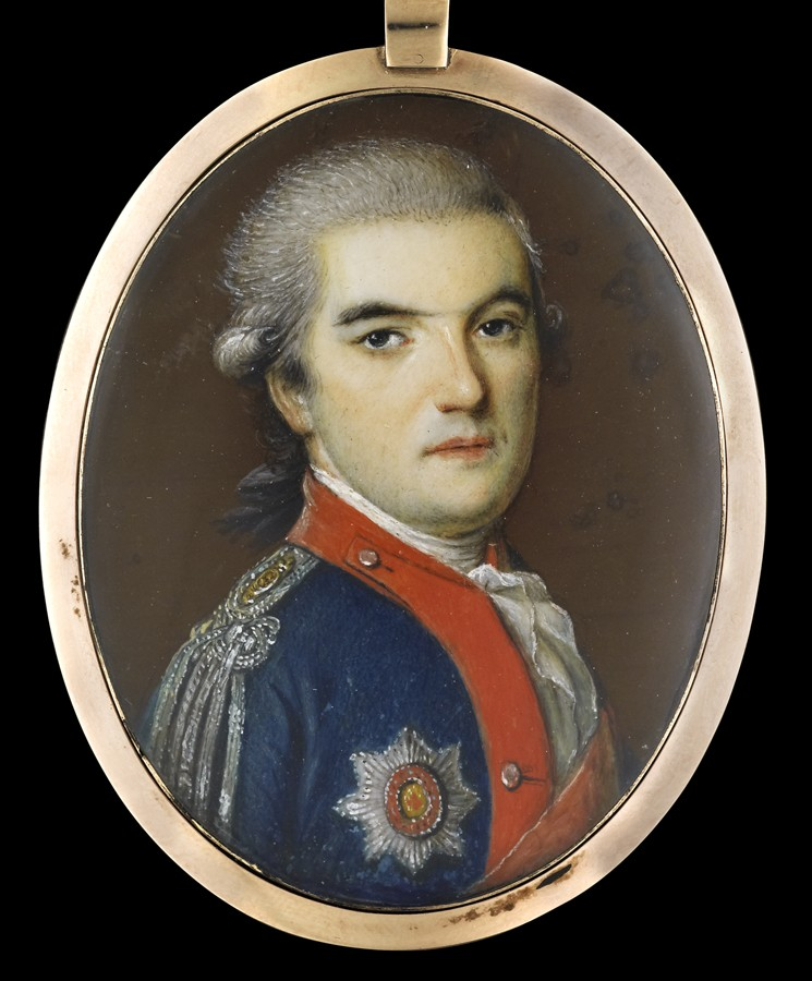Portrait miniature of an Officer Late 18th Century