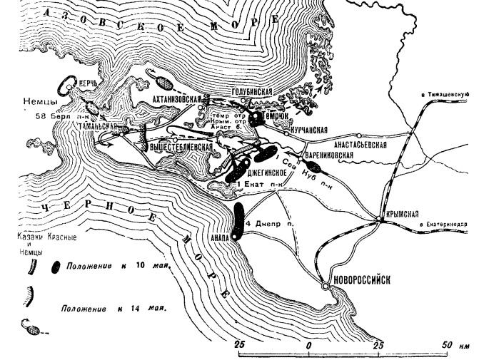 Противостояние с немцами на Тамани