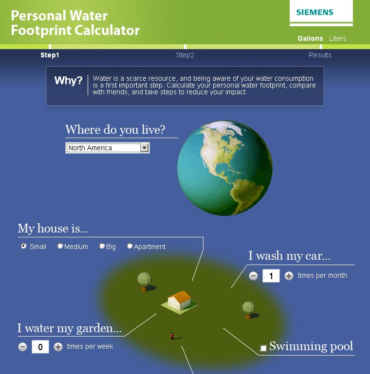New Facebook Application: Personal water footprint calculator