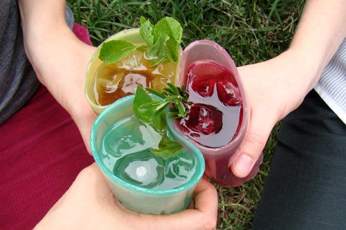 съедобные стаканчики из агар-агара