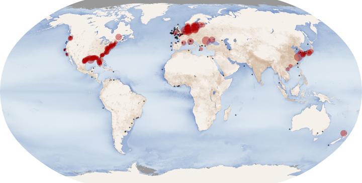 Мёртвые зоны Мирового океана