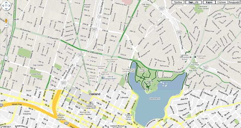 Велосипедные маршруты на картах Google