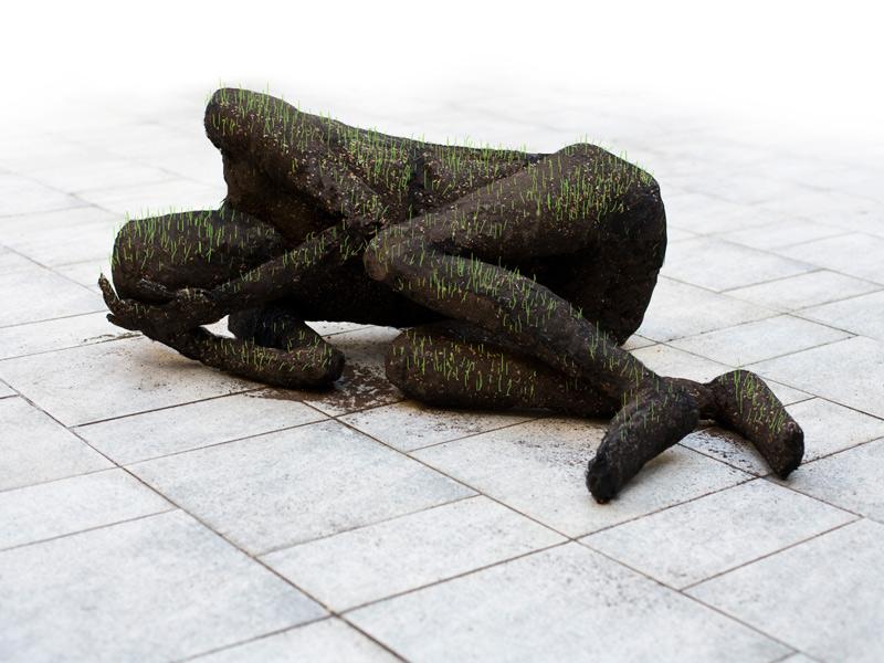 скульптуры из стали и почвы