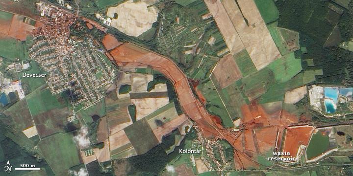 Экологическая катастрофа в Венгрии из космоса