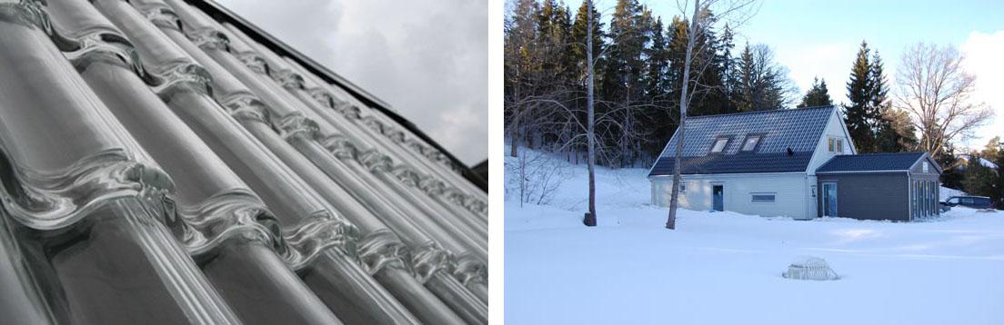 Стеклянная крыша для обогрева дома