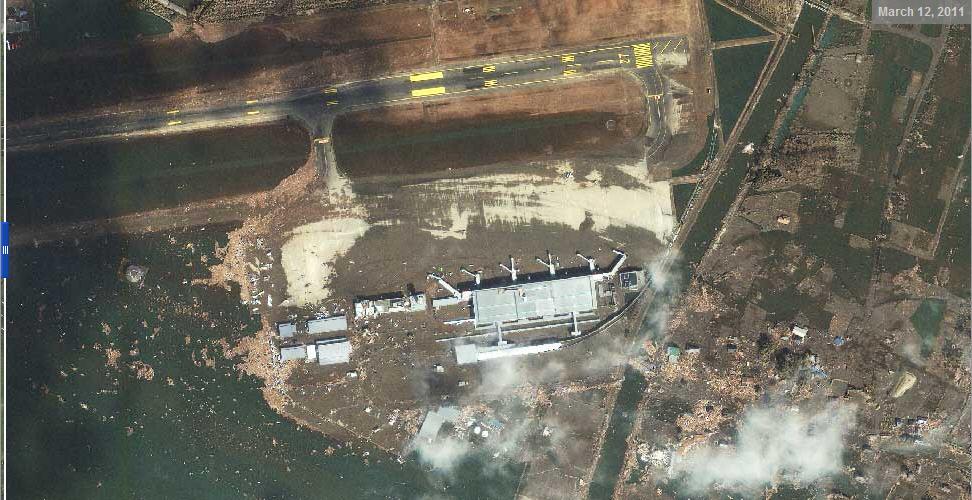 Фотографии Японии из космоса до и после землетрясения и цунами