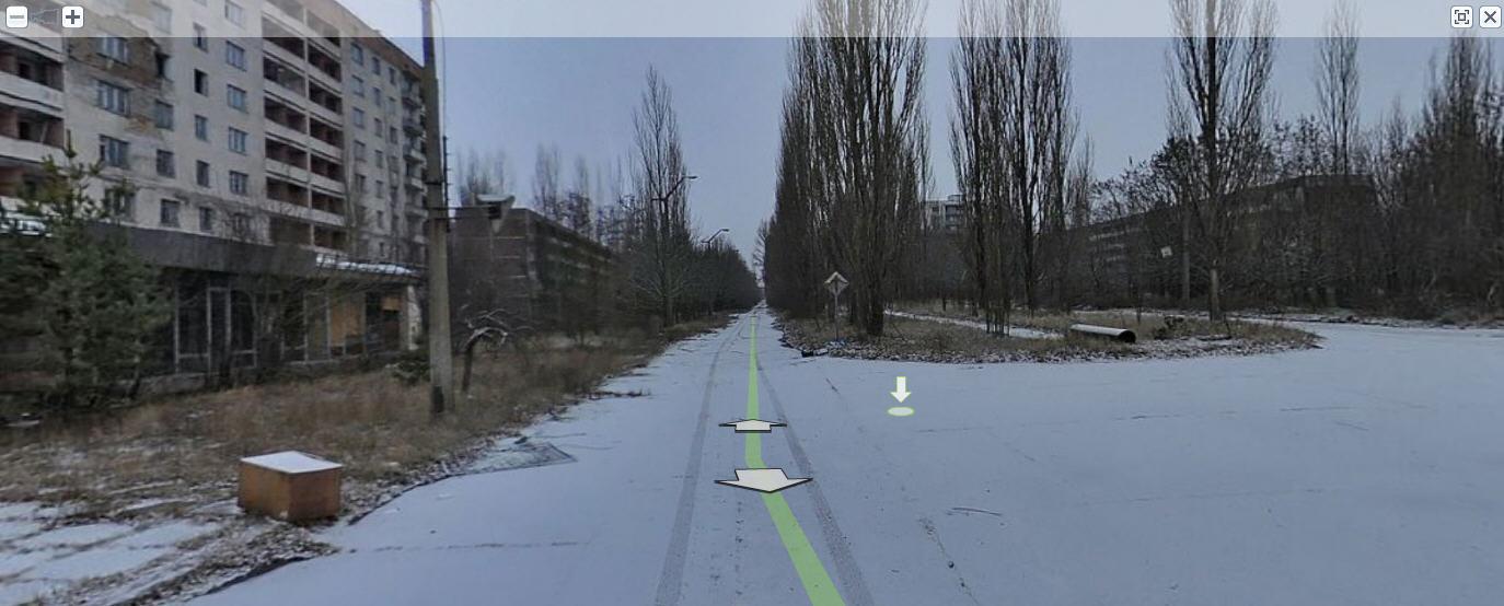 Панорамы улиц Припяти