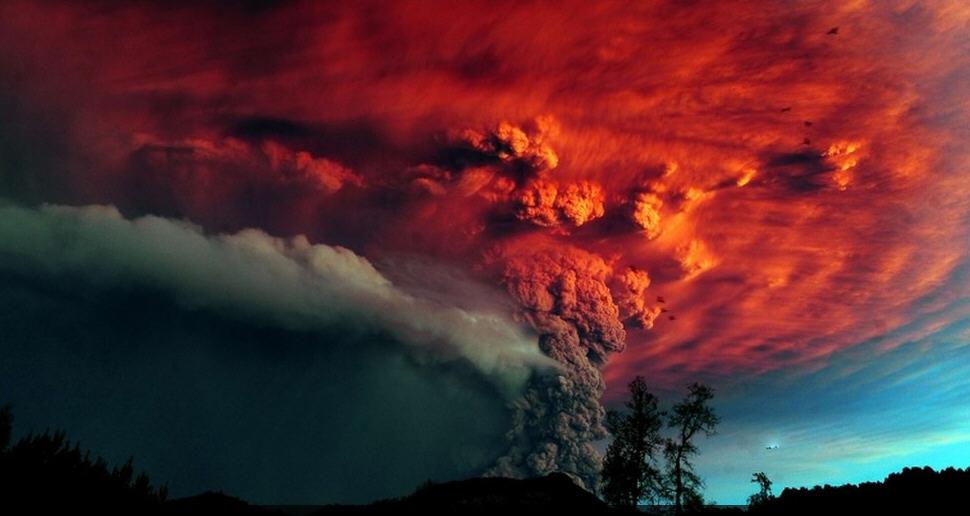 Апокалиптические фото извержения Чилийских вулканов