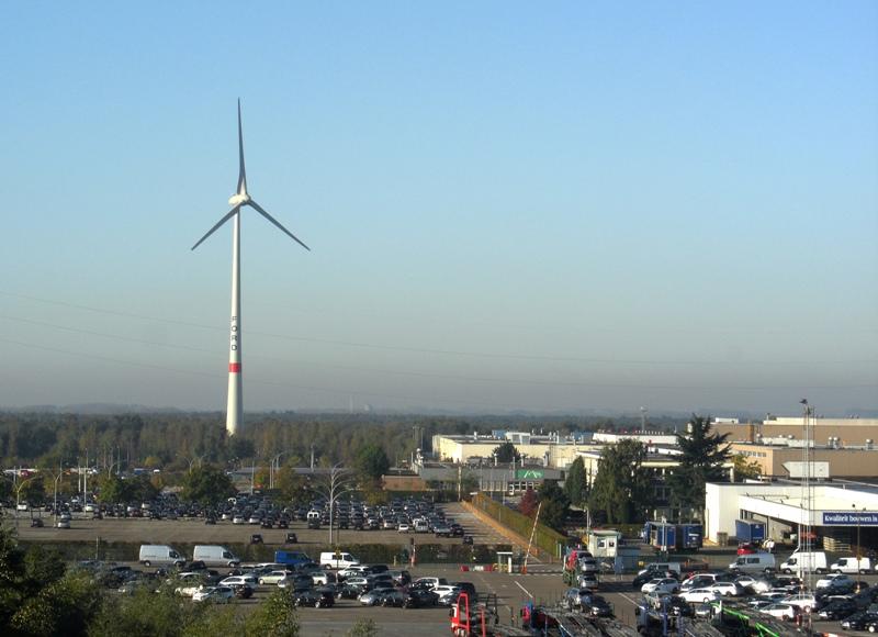 ветрогенераторы на заводе Ford