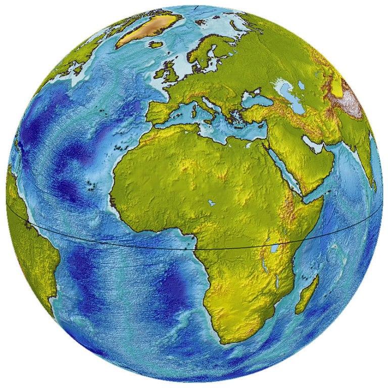 Граница суши и океана Земли