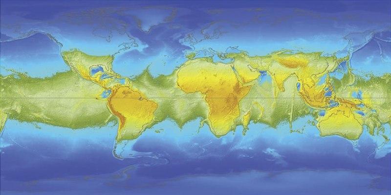 Экваториальный супер-континент и два полярных океана