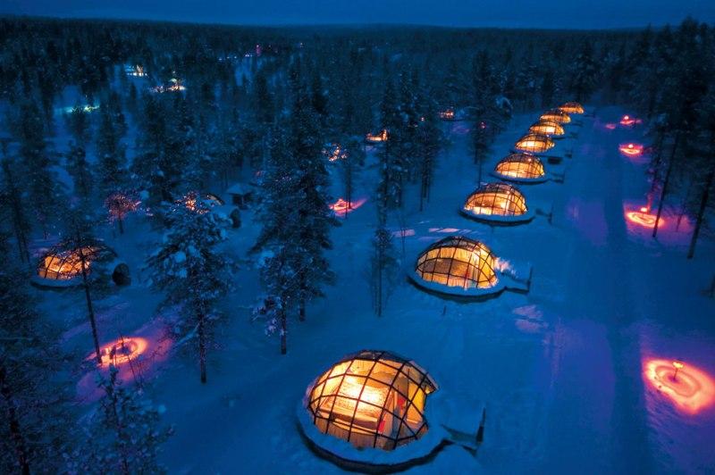 Стеклянные иглу в Финляндии