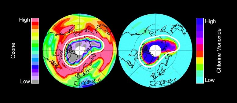 Озоновая дыра в Арктиее