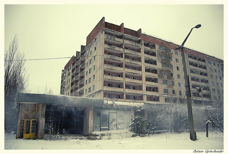 Пустующий дом в Припяти