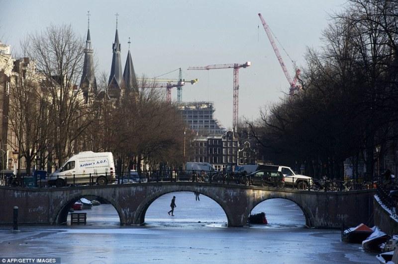 Замёрзшие каналы Амстердама