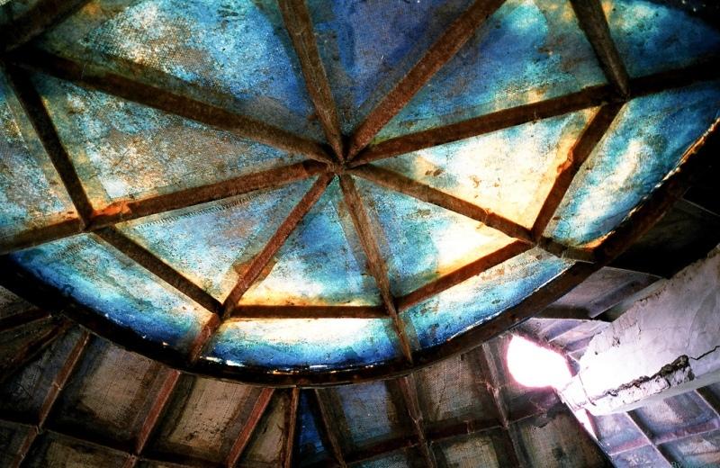 Проржавевшие перекрытия купола