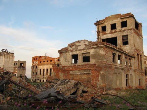 Развалины домов Хальмер-Ю