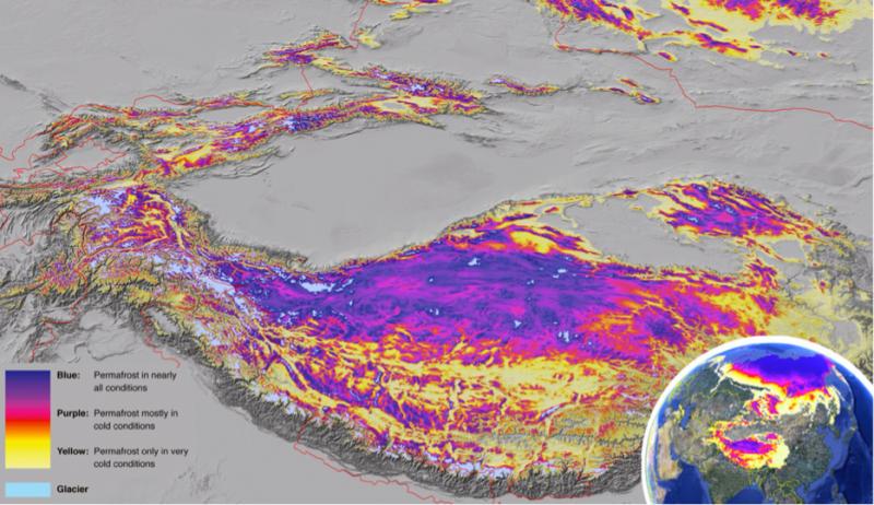 ечная мерзлота в горах Средней Азии, Тибета и Гималаях