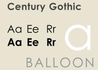 Century Gothic - самый экономичный шрифт