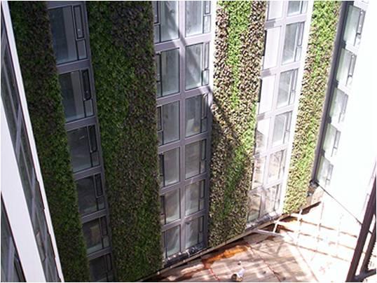 Живые зелёные стены отеля Минт в Лондоне