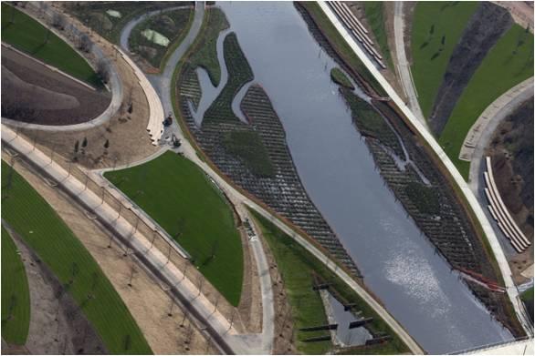 Воссозданные ландшафты места проведения Олимпийских игр в Лондоне