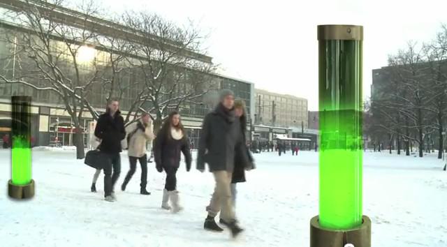 Микроводорослевая лампа, депонирующая CO2