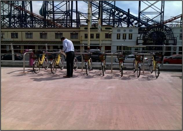 Система аренды велосипедов (велошэринга) в Блэкпул (Великобритания)
