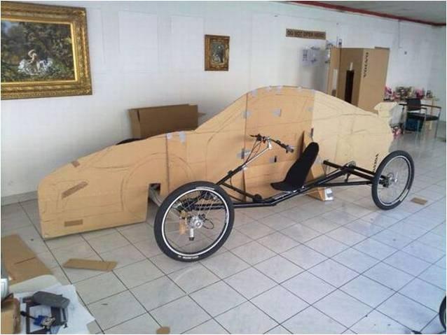 велосипед - автомобиль