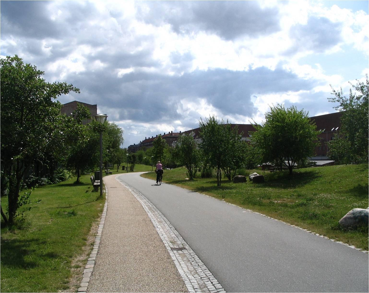 Совмещённая велосипедная и пешеходная дорожка