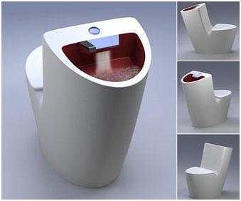 Унитаз, совмещённый с раковиной для мытья рук