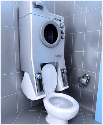 Унитаз, совмещённый со стиральной машиной