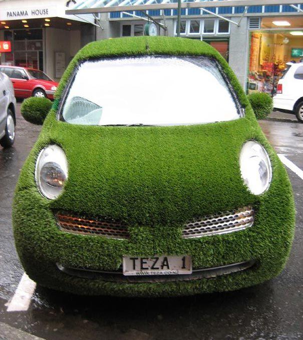 Зелёное авто