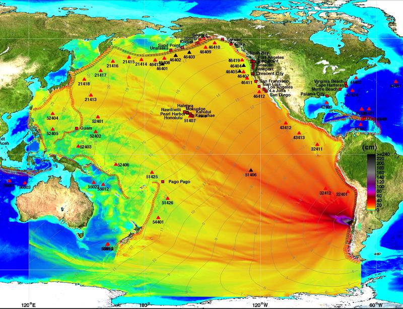 NOAA сравнило цунами, вызванные землетрясениями 2010 и 1960 годов в Чили